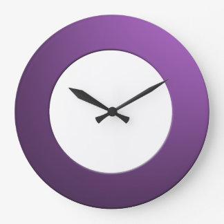Minimalistic any Color No Digits on Purple Frame Large Clock