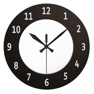 Minimalistic Black and White Large Clock
