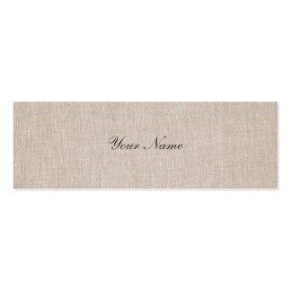 Minimalistic Elegance Linen Mini Profile Card Pack Of Skinny Business Cards