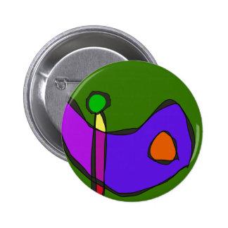Minimalistic Expressionism 6 Cm Round Badge