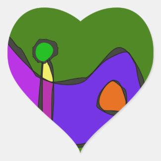Minimalistic Expressionism Heart Sticker