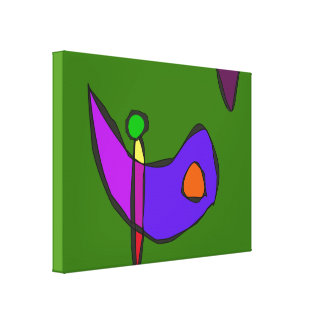Minimalistic Expressionism Stretched Canvas Print