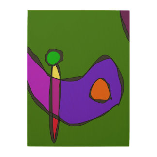 Minimalistic Expressionism Wood Prints