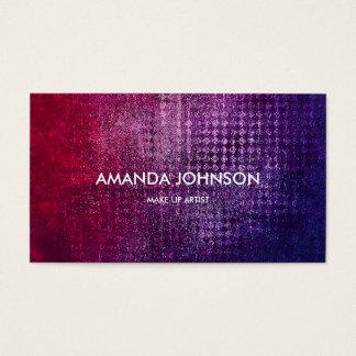 Minimalistic Glam Stylist Make Up Artist Blue Vip Business Card