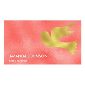 Minimalistic Glam Stylist Pink Peach Gold Vip Pack Of Standard Business Cards