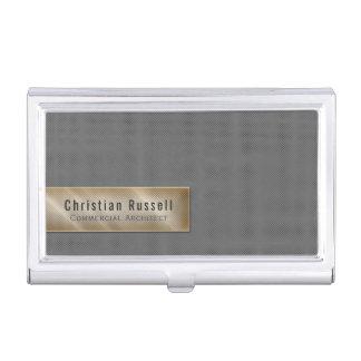 Minimalistic Gray Business Card Holder