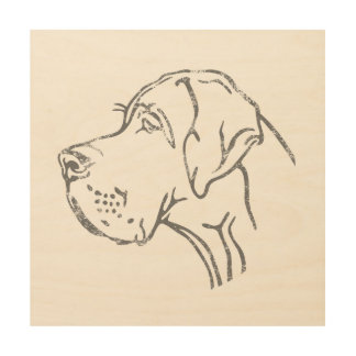 Minimalistic Great Dane Print
