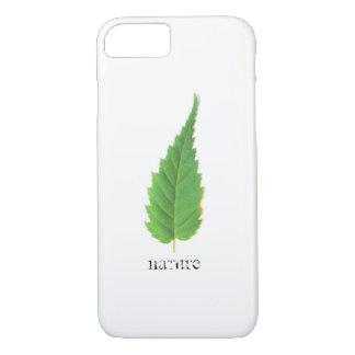 Minimalistic green leaf iPhone 7 case