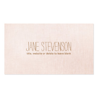 Minimalistic is Sweet Light Pink Linen Look Pack Of Standard Business Cards