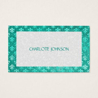Minimalistic Mint Green Vip Business Card