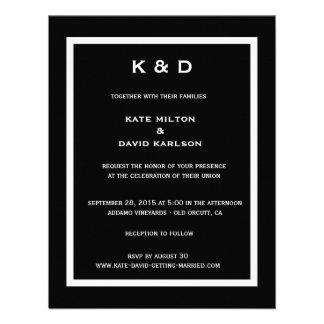 Minimalistic Modern Black-and-White Wedding Invite
