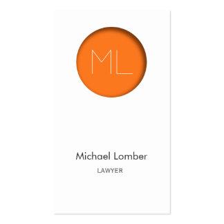 Minimalistic modern Business Card orange circle