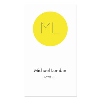 Minimalistic modern Business Card yellow circle