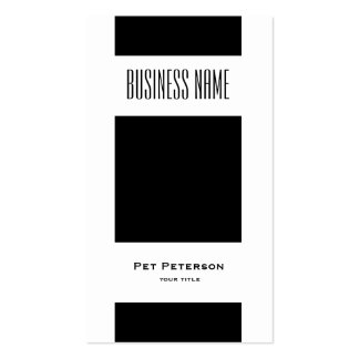 Minimalistic modern square Double-Sided standard business cards (Pack of 100)