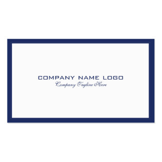 Minimalistic Navy-Blue Border On White Pack Of Standard Business Cards