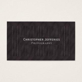 Minimalistic PinStripes (Charcoal) Business Card