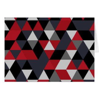 Minimalistic polygon pattern (Prism) Card
