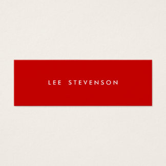 Minimalistic Red Mini Business Card