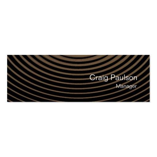 Minimalistic Skinny Waves Pattern Business Card