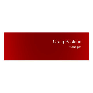 Minimalistic Skinny White Red Clean Business Card
