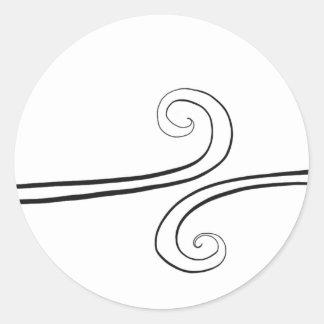 Minimalistic Spiral Sticker