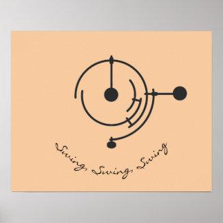 Minimalistic Triple Pendulum Poster