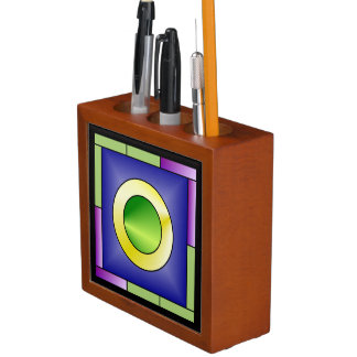 Minimalistic World Art Deco Desk Organiser
