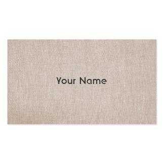 Minimalistic Zen Teacher Natural Linen Look Business Cards