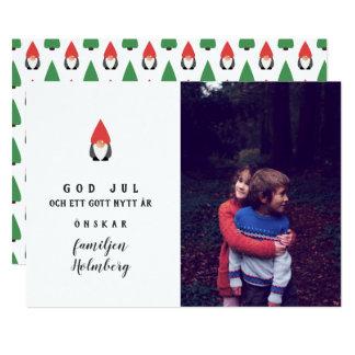 Minimalistisk Tomtenisse - good Christma - Card
