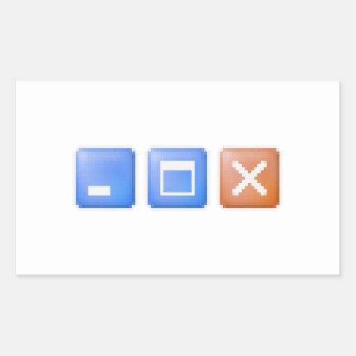 Minimize Maximize Close Computer Internet Rectangular Sticker