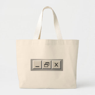Minimize restore close tote bag