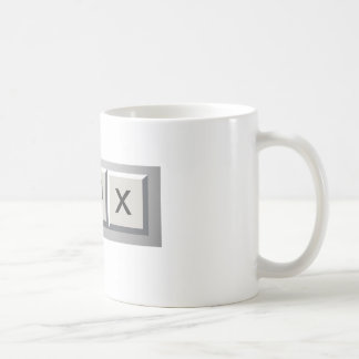 Minimize restore close basic white mug