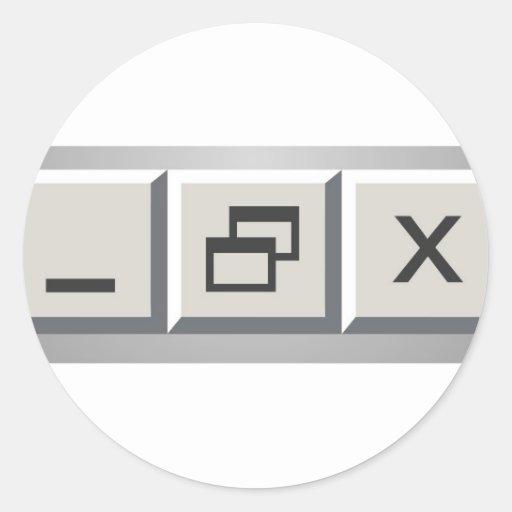 Minimize restore close sticker