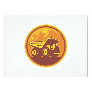 Mining Dump Truck Retro 17 Cm X 22 Cm Invitation Card