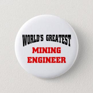 Mining engineer 6 cm round badge