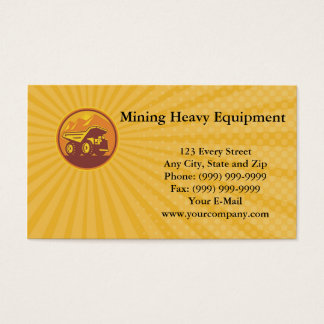 Mining Heavy Equipment Business card