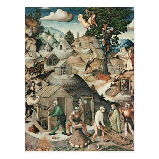 Mining landscape, 1521 postcard