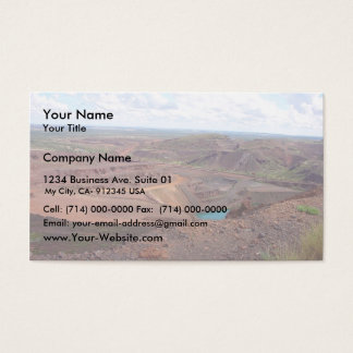 Mining Operations At Paraburdoo Mine Business Card