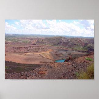Mining Operations At Paraburdoo Mine Poster
