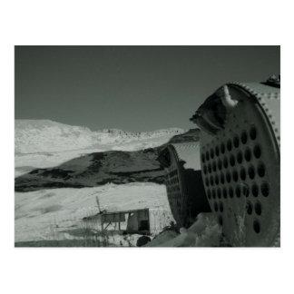 mining tank1 postcard