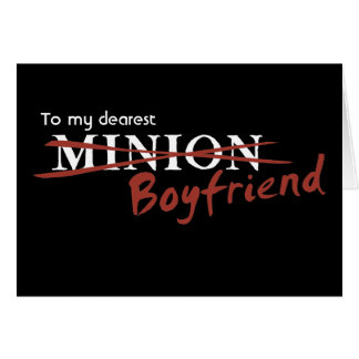 Minion Boyfriend Greeting Card