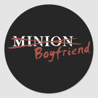 Minion Boyfriend Round Stickers