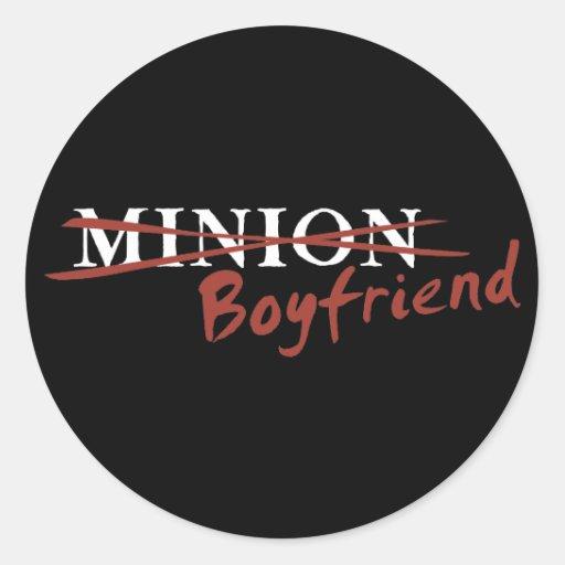 Minion Boyfriend Round Stickers