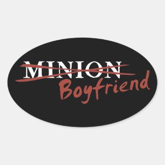 Minion Boyfriend Oval Sticker