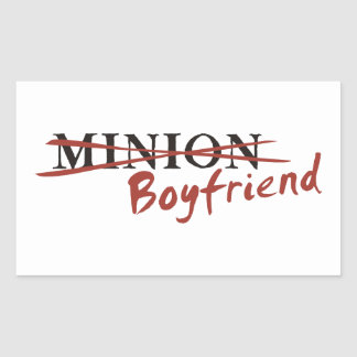 Minion Boyfriend Rectangle Stickers
