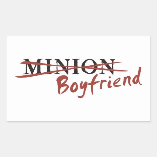 Minion Boyfriend Rectangle Stickers