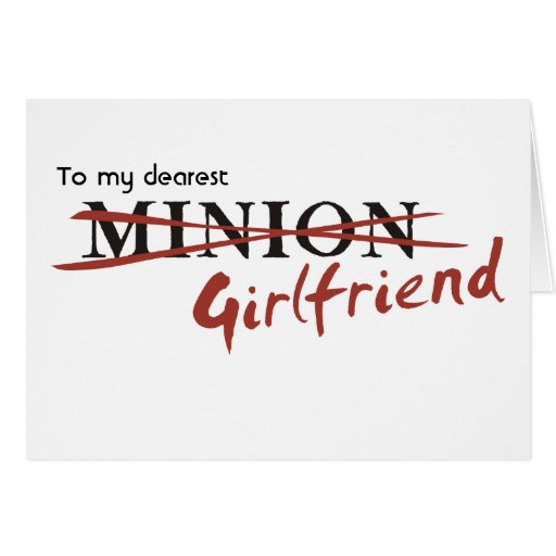 Minion Girlfriend Cards