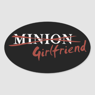 Minion Girlfriend Oval Sticker