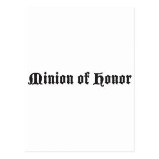 Minion of honor postcard