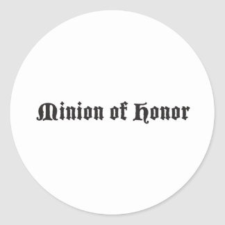 Minion of honor round stickers